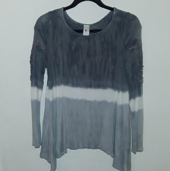 S-Twelve Tops - S- twelve long sleeved ombre shirt.
